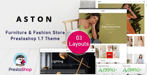 Aston – Fashion Ecommerce Prestashop Theme for Furniture & Clothes