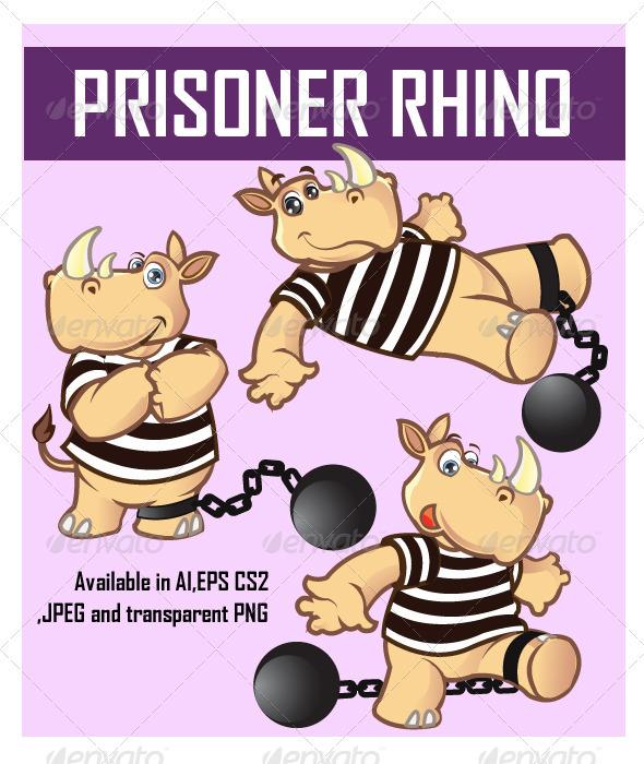 Prisoner Rhino Cartoon - Animals Characters