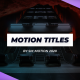 Modern Motion Titles - VideoHive Item for Sale