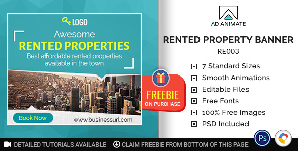Real Estate | Rented Property Banner (RE003)