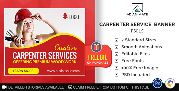 Professional Services | Carpenter Service Banner (PS015)