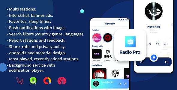 Radio Pro | Multi-station Radio App with Admin  Panel }}