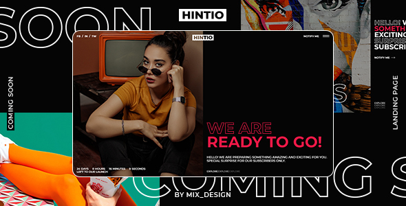 Hintio - Coming Soon & Landing Page Template