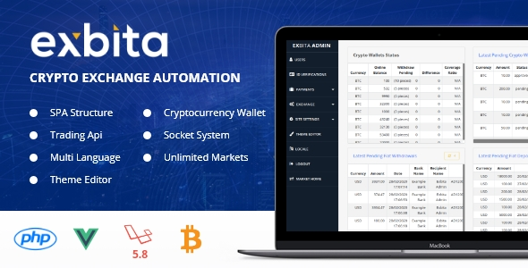 Exbita - Crypto Currency Exchange Platform