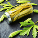 Canned okra in jars - PhotoDune Item for Sale