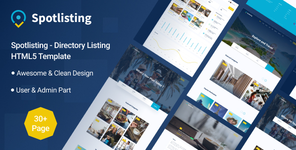 Spotlisting – Directory Listing HTML5 Template