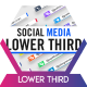 Social Media Lower Third Parallelogram - VideoHive Item for Sale