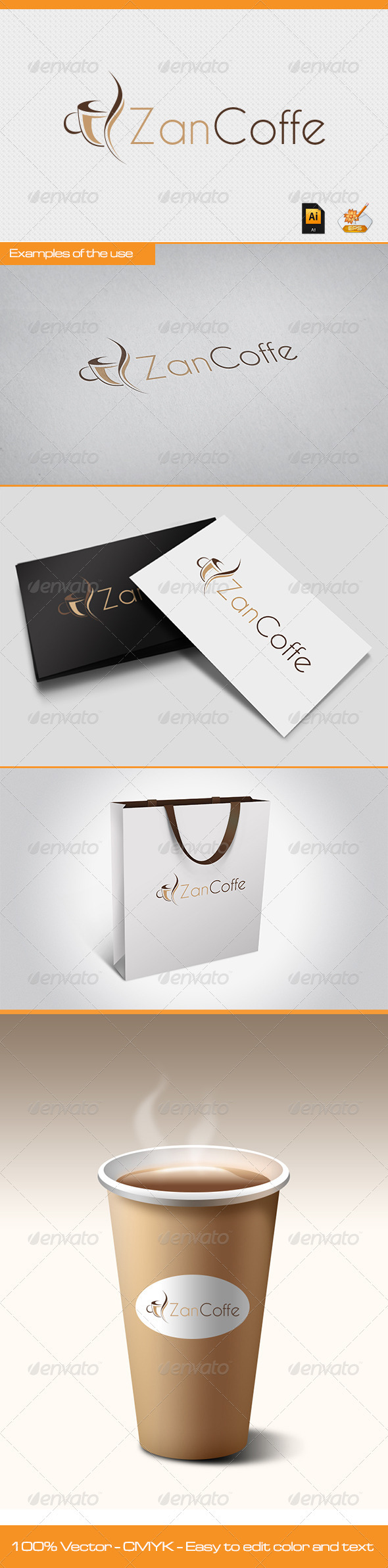 Zan Coffe Logo Template - Symbols Logo Templates