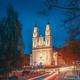 Hlybokaye Or Glubokoye, Vitebsk Region, Belarus. Church Of Sts. Trinity In Evening Night Lighting - PhotoDune Item for Sale