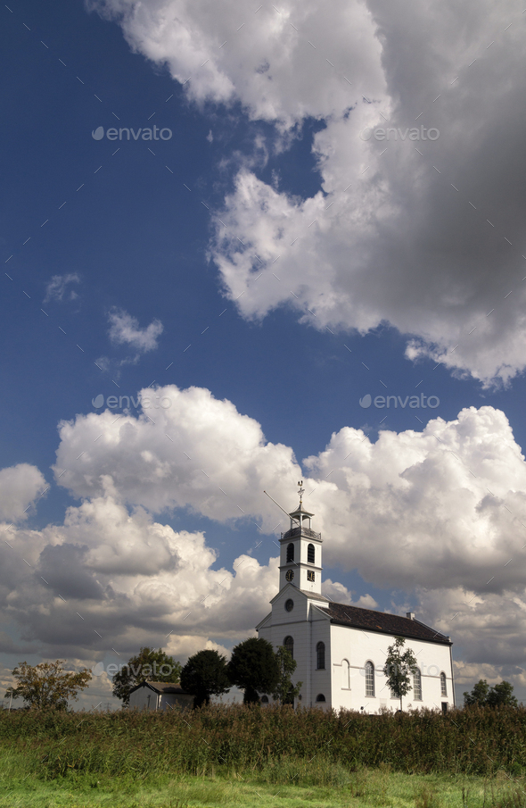 Church from Simonshaven - Stock Photo - Images
