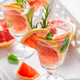 Refreshing infused water with pink grapefruit, cantaloupe melon and mint - PhotoDune Item for Sale
