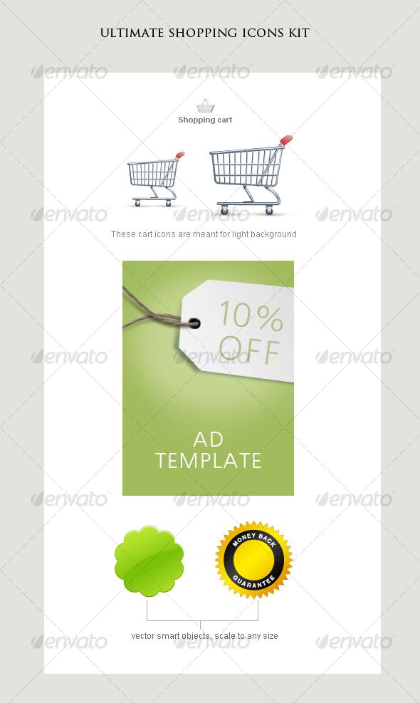 shopping icons kit - Web Icons