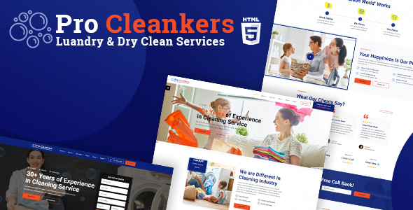Pro Cleankers   Laundry and Dryclean HTML Template