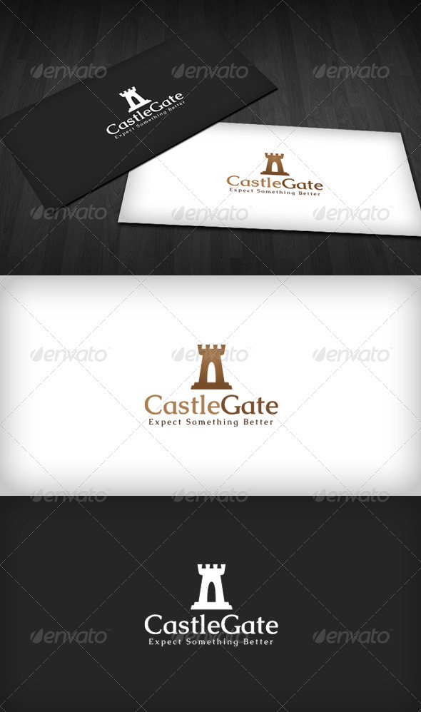 Castle Gate Logo - Buildings Logo Templates