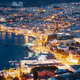 Kusadasi, Aydin Province, Turkey. Waterfront And Kusadasi Cityscape In Summer Evening. Night Scenic - PhotoDune Item for Sale