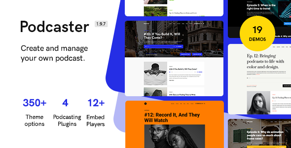 Download Podcaster – Multimedia WordPress Theme Nulled