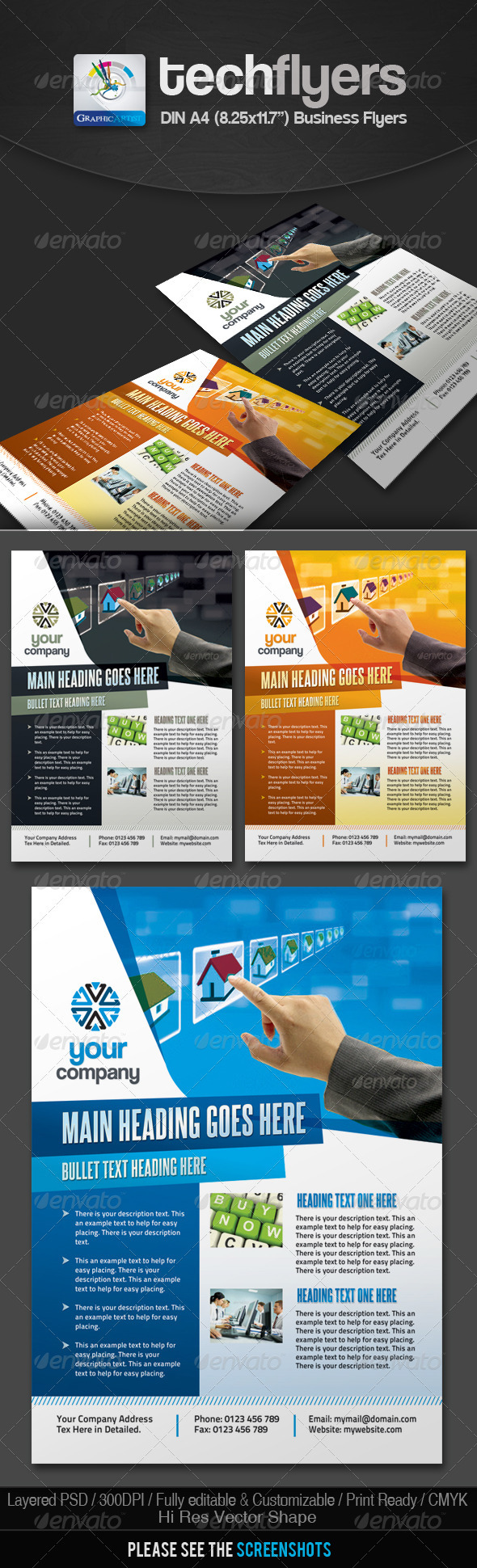 Tech Multipurpose Business Flyers - Corporate Flyers