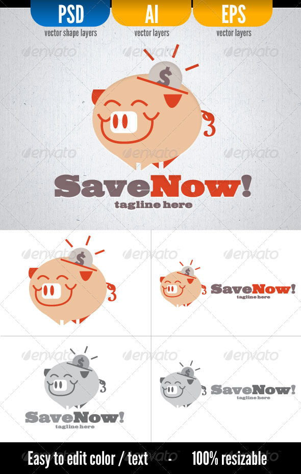 Save Now! - Objects Logo Templates