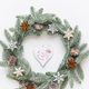 Christmas wreath. Christmas decorations on white background. Flat lay, top view - PhotoDune Item for Sale