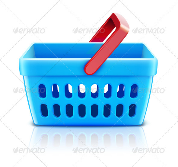 Supermarket shopping basket  - Commercial / Shopping Conceptual