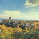 Colle Val d'Elsa town skyline, panoramic view. Siena, Tuscany, Italy - PhotoDune Item for Sale