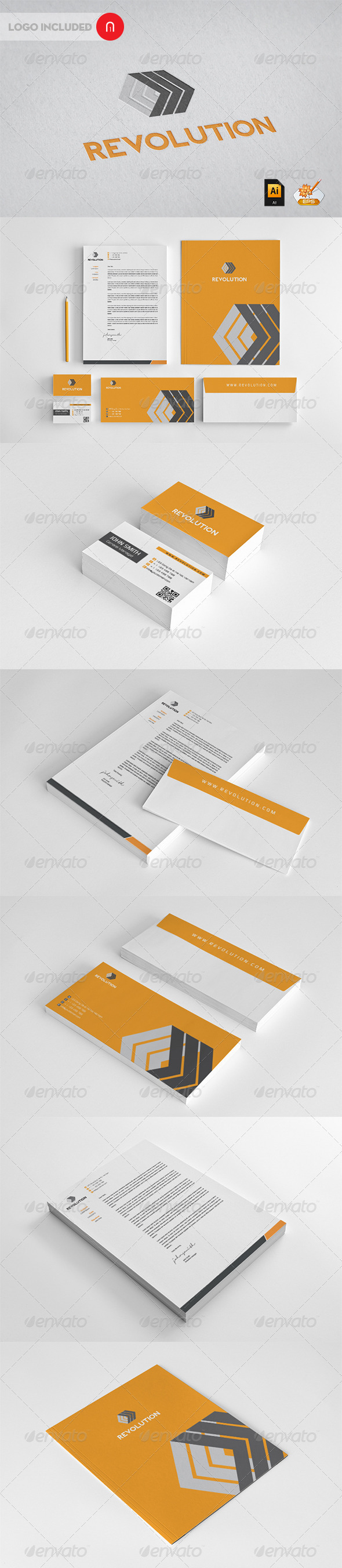 Revolution Corporate Identity - Stationery Print Templates