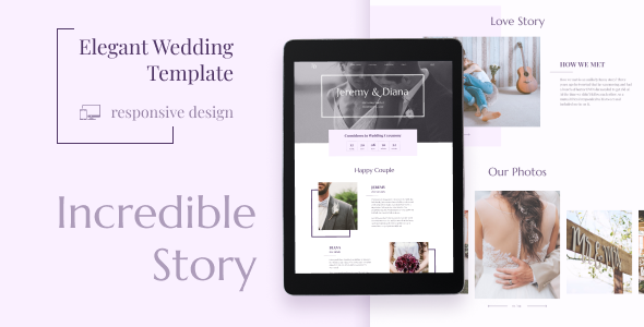 Fabulous Wedding JD - Coming Soon HTML Template