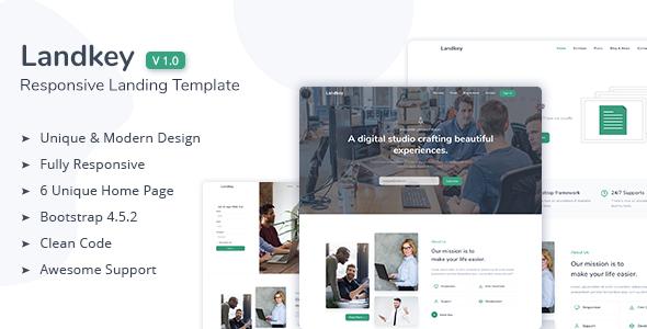 Landkey - A Responsive Creative Landing Page Template