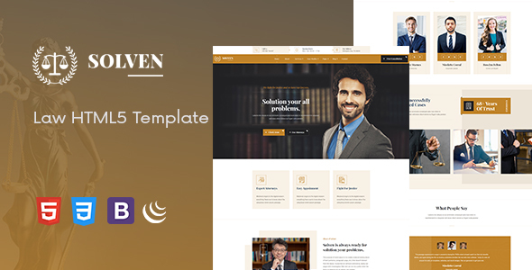 Solven - Lawyer HTML5 Template