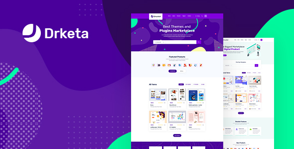 Drketa – Digital Marketplace HTML Template