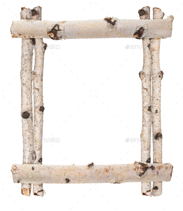 Frame of birch logs. For design - Stock Photo - Images