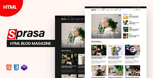 Sprasa – HTML Blog Magazine