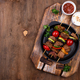 Grilled kebabs with meat, mushrooms and vegetables - PhotoDune Item for Sale