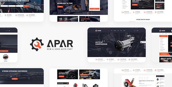 Apar – Auto Parts WordPress Shop Theme