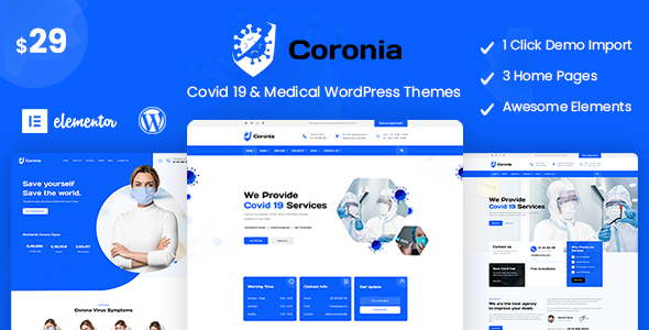 Coronia - Covid 19 & Medical  WordPress Themes