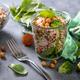 Quinoa Chickpea Salad, Vegan Snack in Glas Jar - PhotoDune Item for Sale
