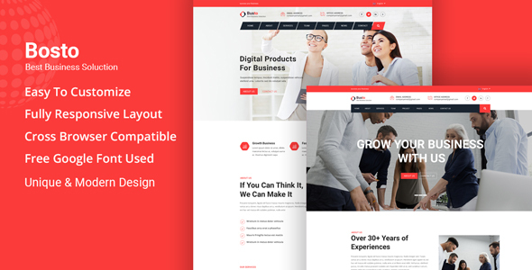 Beautiful Bosto - Business Consulting HTML Template