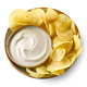 bowl of potato chips and sour cream souce - PhotoDune Item for Sale