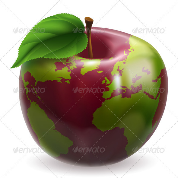 Globe Apple Concept Illustration - Concepts Business