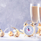 Two champagne glasses and christmas decoration - PhotoDune Item for Sale