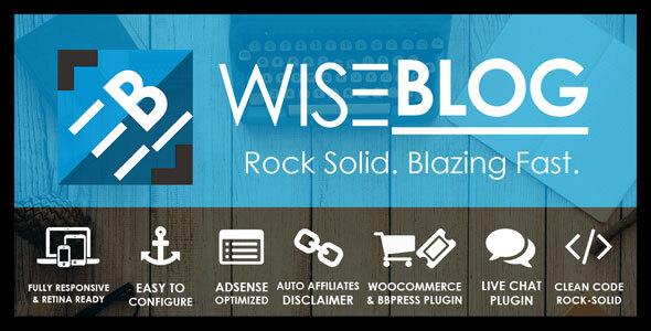 Wise Blog | Multi-Purpose AdSense Optimized WordPress Theme