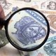 Eritrean money in a magnifying glass - PhotoDune Item for Sale