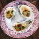 Flat-lay of oven baked oysters with parmesan cheese and herbs - PhotoDune Item for Sale
