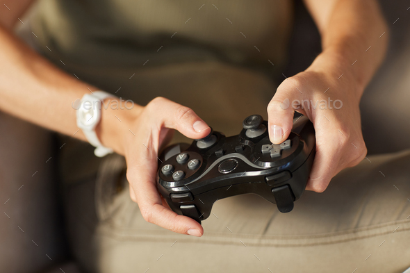 Woman playing in game - Stock Photo - Images