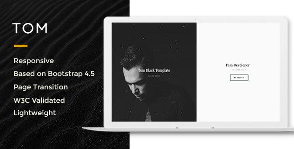 Tom-Resume, Portfolio, Vcard Template