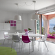 Interiors of a Modern Living Room with Dining Table - PhotoDune Item for Sale