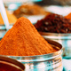 Close View Of Masala Curry, Bright Colors Fragrant Seasoning, Condiment In Tray On Local Food Market - PhotoDune Item for Sale