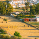 Andalusia region, Spain. Elevated View Of Rural Landscape Field With Hay Bales Rolls - PhotoDune Item for Sale