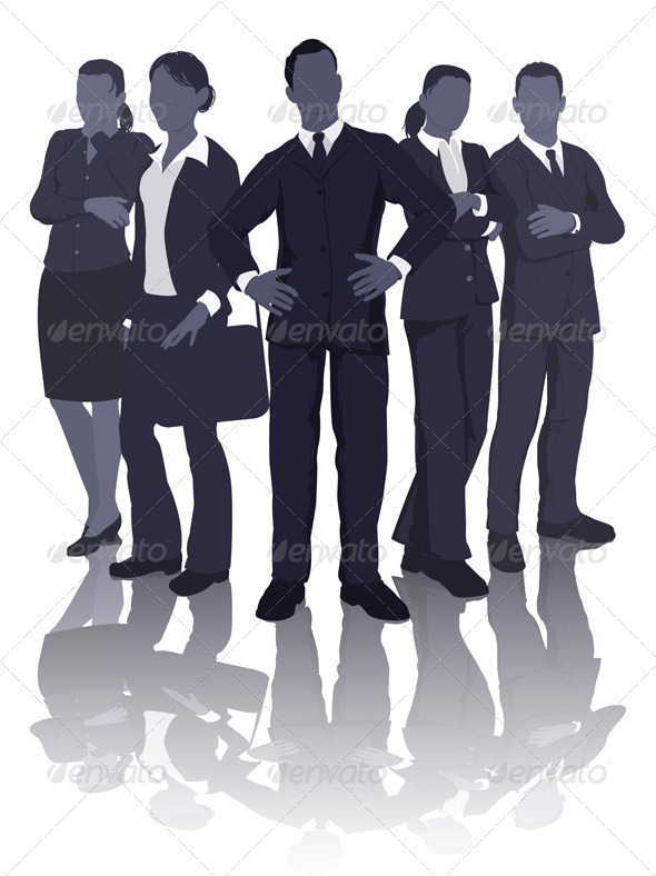 Business team illustration - Business Conceptual