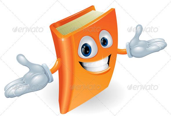 Book cartoon character mascot - Characters Vectors